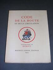 Dubout code de la route Gonon 1955 numéroté 65 aquarelles de Dubout