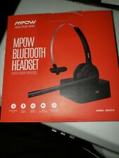 A1~EXCELLENT condition~Mpow Bluetooth Headset~with Charging Base