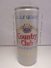COUNTRY CLUB MALT LIQUOR 16oz ALUMINUM PULL TAB BEER CAN WITH UPC  #2  TEXAS