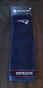 NEW ENGLAND PATRIOTS NFL Licensed 16 X 22  LOGO GOLF TOWEL - Brand New!