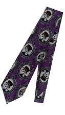 Top Hat Sugar Skull Cameo Men's Neck Tie La Calavera Catrina DIA De Los Muerto's
