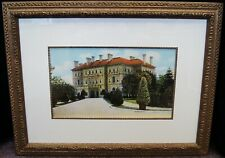 """Unsigned """"Elegant Estate"""" Vintage Lithograph Print Framed 21x28"""" B4419"""