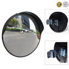"""12"""" Outdoor Road Convex Traffic Round Mirror PC Wide Angle Driveway Security"""
