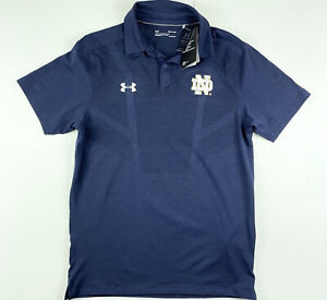 Under Armour Notre Dame Fighting Irish Official On Field Polo Shirt Size Small