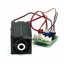 Focusable Dot 532nm 100mw Green Laser Diode Module 12V w/ Fan & Driver TTL