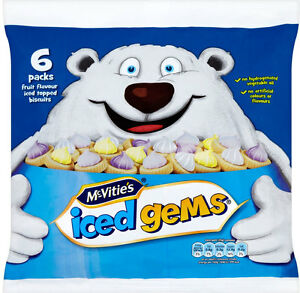 McVITIES JACOBS ICED GEMS 3 x 6 pack
