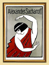 Poster Alexander sacharoff V. Alexei Jawlensky of Dancer Bavaria 228 in frame