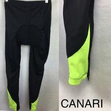 Canari Women's Black Padded Seat Long Bicycle Legging Tights Pants L