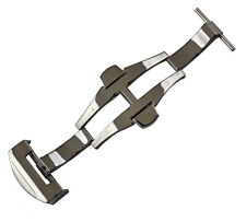 20mm Panatime Polished Aftermarket Deploy Buckle No Logos For Panerai