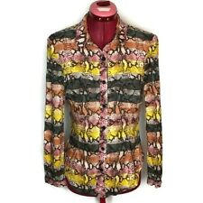Rachel Roy Womens Top 4 Black Pink Button Down Long Sleeve Blouse