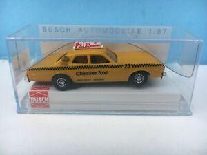 BUSCH 46607 DODGE MONACO Checker Cab TAXI MIP 1:87 HO Scale