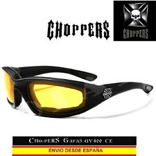 Choppers gafas de noche acolchado moto Custom Biker Sunglasses Lunettes occhiali