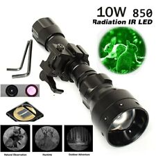 IR Flashlight 10W 850nm LED Zoomable Flashlight Infrared Radiation Hunting Torch