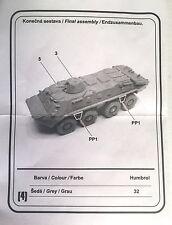 CMK Soviet BTR-70 Unassembled Resin Kit 1/87, HO Compatible W/ Minitanks
