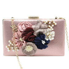 Floral Party Purse Women Lady Clutch Wallet Bag Wedding Evening Chain Handbags