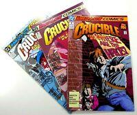 DC-IMPACT Comics THE CRUCIBLE (1993) #1 2 3 LOT Set RUN NM (9.4) Ships FREE!