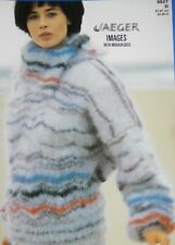 """JAEGER Knitting Pattern 5527 - Ladies Mohair Chevron Sweater 32""""-38"""" Not a copy"""