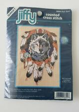 Jiffy by Sunset 5x7 Counted Cross Stitch Kit Wolf Spirit