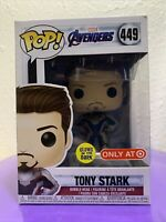 Funko Pop Avengers Endgame Tony Stark Unmasked Iron Man Glow in The Dark #449