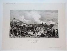 25-105 Gravure XIX° Napoléon prise d'Ypres 17 juin 1794