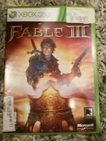 Xbox 360 : Fable III VideoGames COMPLETE FREE USA SHIPPING