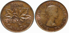 1955 Canada 1 Cent  No Strap(NSF) PCGS MS64 BN. Extremely Rare Canada Small Cent