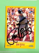 RON KITTLE  AUTOGRAPHED BASEBALL CARD, OUTFIELD, NEW YORK YANKEES