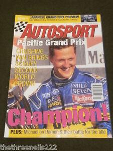 AUTOSPORT - PACIFIC GRAND PRIX - OCT 26 1995