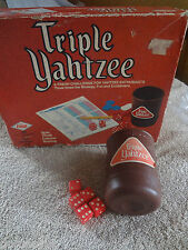Triple Yahtzee Lowe Milton Bradley E928 Game Replacement Only 5 Dice Cup 1973