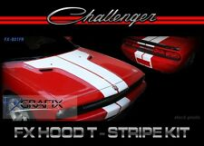 2008 - 2014 Dodge Challenger Hood T Front & Rear Stripe Kit 3M Quality Stripes