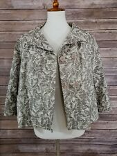 NWT Coldwater Creek Women's Jacket Blazer Buttons 3/4th Sleeve Size PL (14,16)