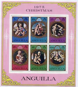 Weeda Anguilla, Antigua, Barbados, Barbuda MNH 1970-80 Souvenir Sheets CV $36.90