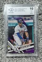 2017 Justin Upton Topps ToysRUs Exclusive Purple BCCG 10 BGS 10 PSA 10 Gem Mint