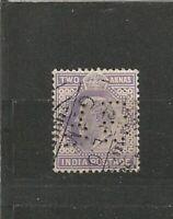 Perfins Perfn Großbritannien England King Edward VII Old Stamps Briefmarken