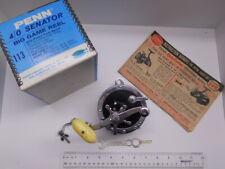 ~ Vintage PENN Senator 113 ~ 4/0 Reel in box ~ Nice ~ Made in USA