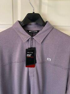 "Travis Mathew ""Player Special"" Golf Polo Purple Sage XL"