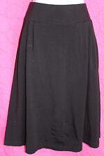 J CREW Black Stretch Rayon Jersey Skirt Sz S Below Knee Pockets Wide Waist Band