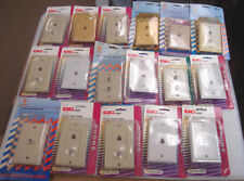 Lot of 17 GC or Vanco Telephone or Coax Wall Plates, New in Package, As Shown