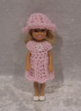 """Made to fit 5½"""" Chelsea #09 Handmade Clothes, Crochet Dress & Hat Set"""