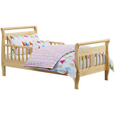 Baby Relax Sleigh Toddler Bed Wood Frame Bedroom Furniture Kids Children Bed