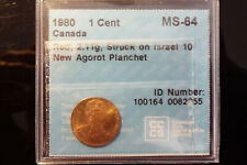 1980 Canada one 1 cent **CCCS MS-64** wrong / foreign planchet error