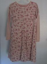 Naartjie 7 Dress Pink Floral Ruffle Pocket Polka Dot Long Sleeve Stripe Girls