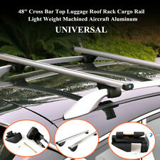 "48""Aluminum Cross Bar Top Luggage Roof Rack Cargo Rail Car SUV Silver High Load"