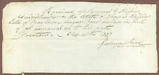 Bill To The Estate of Thomas Bliffins, Paid By Estate, June 20, 1837, Freetown