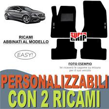 PER MERCEDES CLASSE A W176 TAPPETI AUTO MOQUETTE E FONDO GOMMA + 2 RICAMI EASY