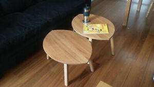 Ikea STOCKHOLM Nest of 2 tables, walnut & walnut veneer, used, check photos