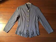 Neon Buddha Button Down Jacket Blazer Coat Gray Women's Size Large L NWOT