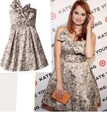 Kate Young For Target Women's Strapless Bow Dress in Gem City Print Size 16