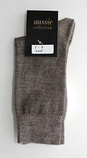 2 Pairs Fine Merino Wool Blend Australian Made Dress Socks Ladies Size 2-8