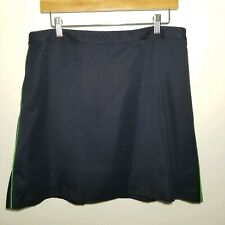 EP Pro Size 12 Navy Skort Lime Green Piping Pocket Golf tennis